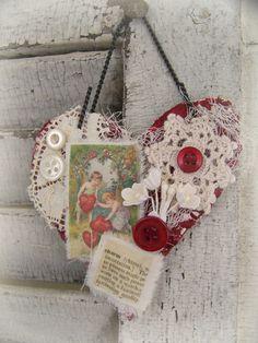 Mixed Media Valentine Ornament~