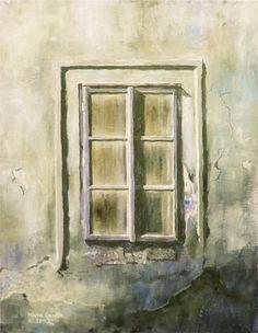 Old Window I - Fine Art GICLEE PRINT after an original painting by Milena Gawlik