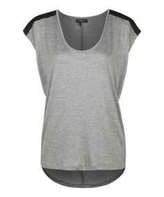 Take a look at this Light Gray & Black Cap-Sleeve Top by Milk 26 on #zulily today!
