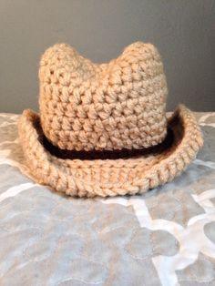 Sombrero de vaquero del ganchillo mano Super adorable! Cada puntada se hace  utilizando dos hebras 9101ebc2058
