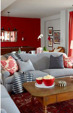 I love red accent wall and have it at my house <3