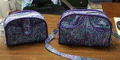 this pair of Everyday Attache's was created by Betsy Bucsanyi of Friendswood, TX. After making the original bag, she decided that it wasn't quite big enough, so she made one just a little bit bigger!