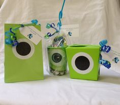Monster University party favors by Nine 17 Designs on Etsy.