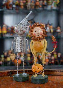 King of the Jungle & Tin Man Whimsical Folk Art by Lori Mitchell at TheHolidayBarn.com