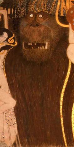 Gustav Klimt. Beethoven Frieze (detail) (1902)