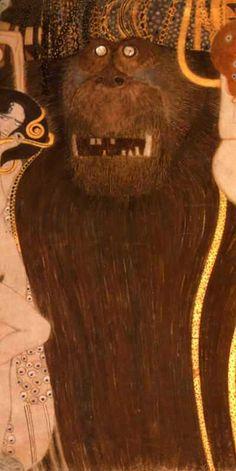 Gustav Klimt. Beethoven Frieze (detail) (1902)