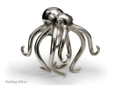 @Holly Griffin Silver Octopus ring