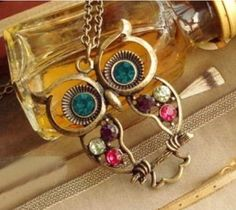 Owl Hollowed-out Lovely Personality Alloy Necklace     F:. http://www.wholesale-orders.com/goods.php?id=41028