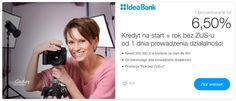Pożyczka na start firmy w Idea Bank - zamów dla nowej firmy