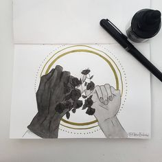 Inktober Day 8 Again inspired by Inej and Kaz... - eileen bahar arts