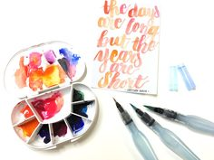 Pentel Aquash water brushes are some of my favorite tools for brush lettering and watercolor art. Learn how I use them!