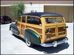 1948 Oldsmobile 66 Series Woodie Wagon presented as Lot at Monterey, CA Vintage Trucks, Old Trucks, General Motors, Classic Trucks, Classic Cars, Automobile, E Skate, Woody Wagon, Station Wagon
