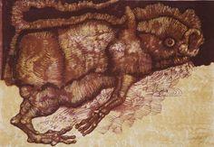 Jan Lebenstein, z cyklu Bestiarium, 1973