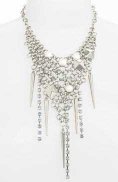 This crystal bib necklace is so awesome for New Year's Eve - just $ 42 at Nordstrom!