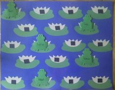 frog attendance--use this idea but recreate using my owl theme.nests instead of lily pads? Rainforest Crafts, Spring Bulletin Boards, Frog Theme, Schools In America, Star Students, Preschool Bulletin Boards, School Application, School Fun, Pre School