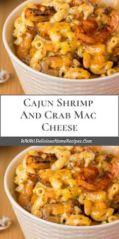 Cajun Shrimp And Crab Mac Cheese. Cajun Shrimp And Crab Mac Cheese Seafood Pasta Recipes, Cajun Recipes, Seafood Dishes, Pasta Dishes, Fish Recipes, Cooking Recipes, Healthy Recipes, Seafood Platter, Cheese Recipes