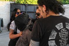 Carlos Toro grabando a Noelia Arias y Sebastian mientras trasladan al secuestrado