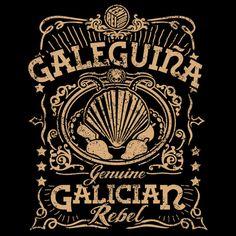 Camiseta Chica: Galeguiña Escote