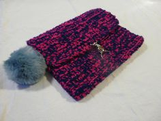 Items similar to Pink and Navy Over Sized Crochet Clutch Bag on Etsy Crochet Clutch Bags, Printing Labels, Fur Pom Pom, Hand Designs, Yarn Colors, Beautiful Crochet, Knitted Fabric, Print Patterns, Bag Accessories