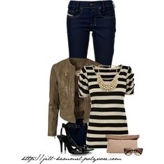 """""""black + cream"""" by jill-hammel - Weekend Casual, Date Night, Night Out with the Ladies."""