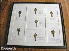 I wish I still had a key from every address, what a great idea