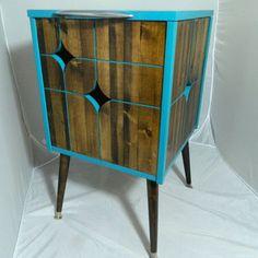 Mid Century Modern Inspired Side Table Nightstand by OrWaDesigns
