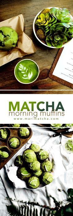 Rich in antioxidants and simply delicious, these Matcha muffins make the best breakfast and/or snack! Play around with the recipe to adjust to your liking! #Matcha #matchagreentea #greentea #tea #teatime #recipe #recipes #muffins #cupcakes #healthy #glutenfree #gluten-free #antioxidants #detox #marimatchatea