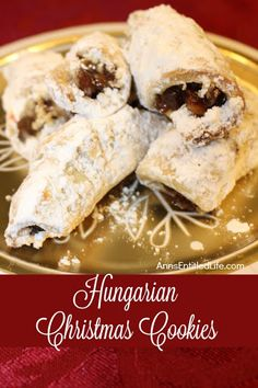 These traditional Hungarian Christmas Cookies from nagyanya (grandma) are simply delicious. Each bite reminds you of the old country; a time of good food and fond m (Christmas Bake Tray) Hungarian Cookies, Hungarian Desserts, Hungarian Recipes, Hungarian Food, Hungarian Cuisine, Russian Desserts, Baking Recipes, Cookie Recipes, Dessert Recipes