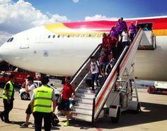 La selección, a su llegada a Madrid procedente de la Copa Confederaciones 2013 #seleccionespanola #LaRoja #diariodelaroja