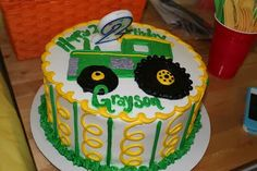 Tractor Cake  Birthday Party Ideas cakepins.com
