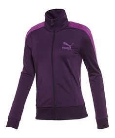 Take a look at this Blackberry Cordial T7 Track Jacket by PUMA on #zulily today!
