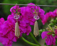 silver 925 earrings and crystal hyaline pair orecchini in argento 925 e cristallo ialino di Oxidex su Etsy Euro 925