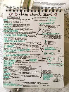astrofisics:   My chem cheat-sheet in preparation... - Studying For Me.