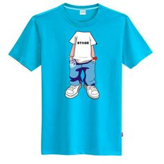 Imagination personality trend of the men's clothing male short-sleeve T-shirt 100% loose short-sleeve cotton t shirt