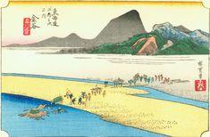 Hiroshige25 kanaya - 東海道五十三次 (浮世絵) - Wikipedia