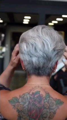 Short Choppy Hair, Short Grey Hair, Short Hair Older Women, Older Women Hairstyles, Short Pixie, Hairstyles Haircuts, Gray Hair, Medium Hair Styles, Short Hair Styles