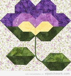 Patrones gratis para descargar de flores de patchwork 5
