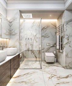 Bathroom inspiration, products and design! - Bathroom inspiration, products and design! Dream Bathrooms, Amazing Bathrooms, Luxury Bathrooms, Small Bathrooms, Modern Room, Modern Bathroom, Modern Shower, Royal Bathroom, Bathroom Marble