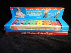 Vintage unopened Fisher Price Toys - Pull A Tune Xylophone in original plastic shrink wrap and box. Christmas Gifts For Kids, Christmas Shopping, Plastic Shrink Wrap, Fisher Price Toys, Toy Collector, Vintage Toys, All The Colors, Packaging, The Originals