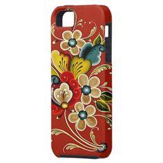 WANT: Scandinavian Norwegian Rosemaling Folk Art iPhone 5 Case