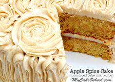This delicious Apple Spice Cake (Doctored Cake Mix) Recipe by MyCakeSchool.com is always a favorite!
