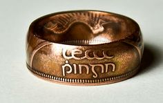 Amazing hand made coin rings. This is incredible.