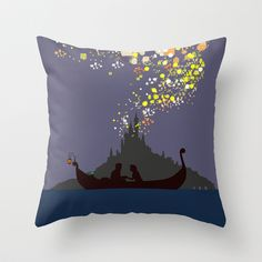 Tangled Throw Pillow by TheWonderlander - $20.00