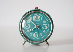 vintage alarm clock-- love this one, color and everything
