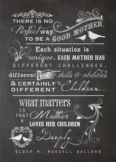 What Matters Most is That a Mother Loves Her Children Deeply.