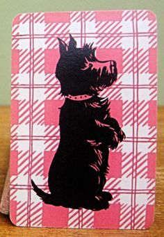 Pink vintage Scotty dog playing cards