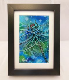 Dragonfly Original Alcohol Ink Painting · Monica Moody Art · Online Store Powered by Storenvy