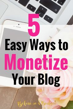 Many bloggers start a blog to make money. While it can take time to build an audience and start earning money, here are 5 easy to make money from your blog. I wish I had done these when I first started blogging!