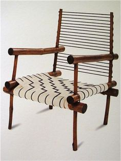 Pierre Jeanneret; Bamboo, Chord and Canvas Webbing Armchair, 1950s.