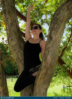 "Yoga Poses Around the World: ""Tree pose in a tree!"""